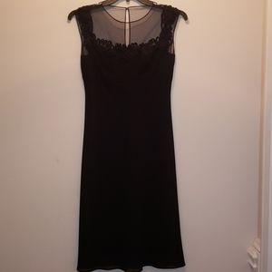 Patra black elegant midi dress size 6
